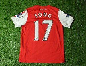 2f030b3b60b ARSENAL LONDON  17 SONG 2011-2012 FOOTBALL SHIRT JERSEY HOME NIKE ...