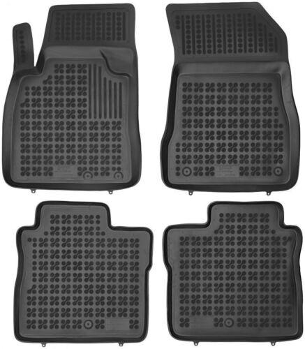 ab 2013 4-teilige schwarze Gummifußmatte für NISSAN Note II Bj