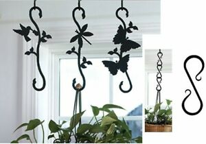 Wrought iron Decorative S-Hook Plant hangers - Mix & Match  - MADE in America!