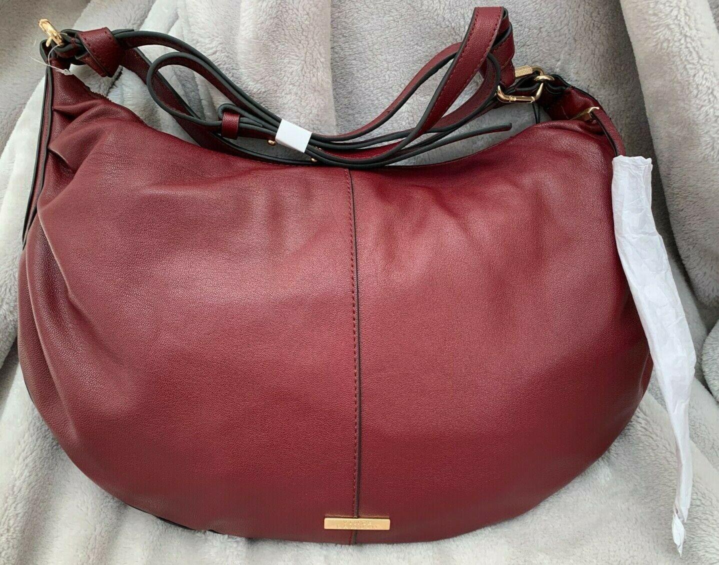 NWT! Designer Red Leather Handbag Vince Camuto Purse Hobo Shoulder Tote
