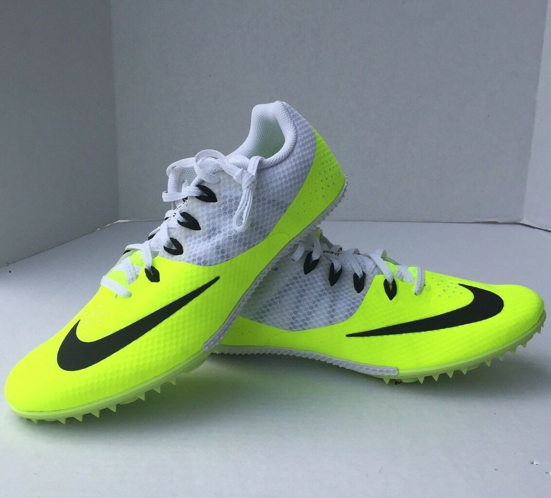 Nike Zoom Rival S8 Men's Track Sprint Spikes 806554-700 MSRP size 12 Neon Yellow