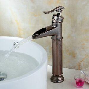Antique copper rustic single handle brass bathroom sink - Antique brass bathroom faucet centerset ...