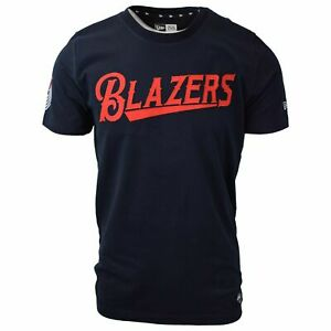 New-Era-Men-039-s-Portland-Trailblazers-Embroidered-S-S-T-Shirt-Retail-39-00