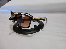 """Oakley Game Changer 009291-04 56-17 141 Blk Gold frames 5 1/8"""" Amber Fade Lenses"""
