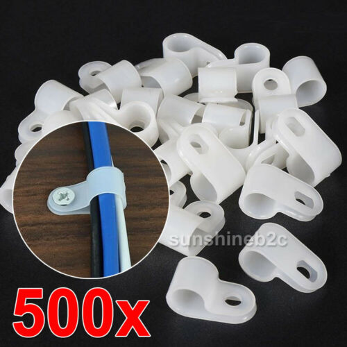 500x Kabelschelle P-Clip für Kabel 5,3-13,2mm Kabelfixierung Chassisklemmen DE