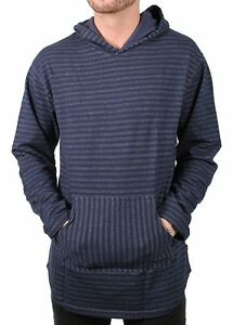 Akomplice VSOP Leon Indian French Terry Cotton Navy Long Sleeve Mens Hoodie NWT