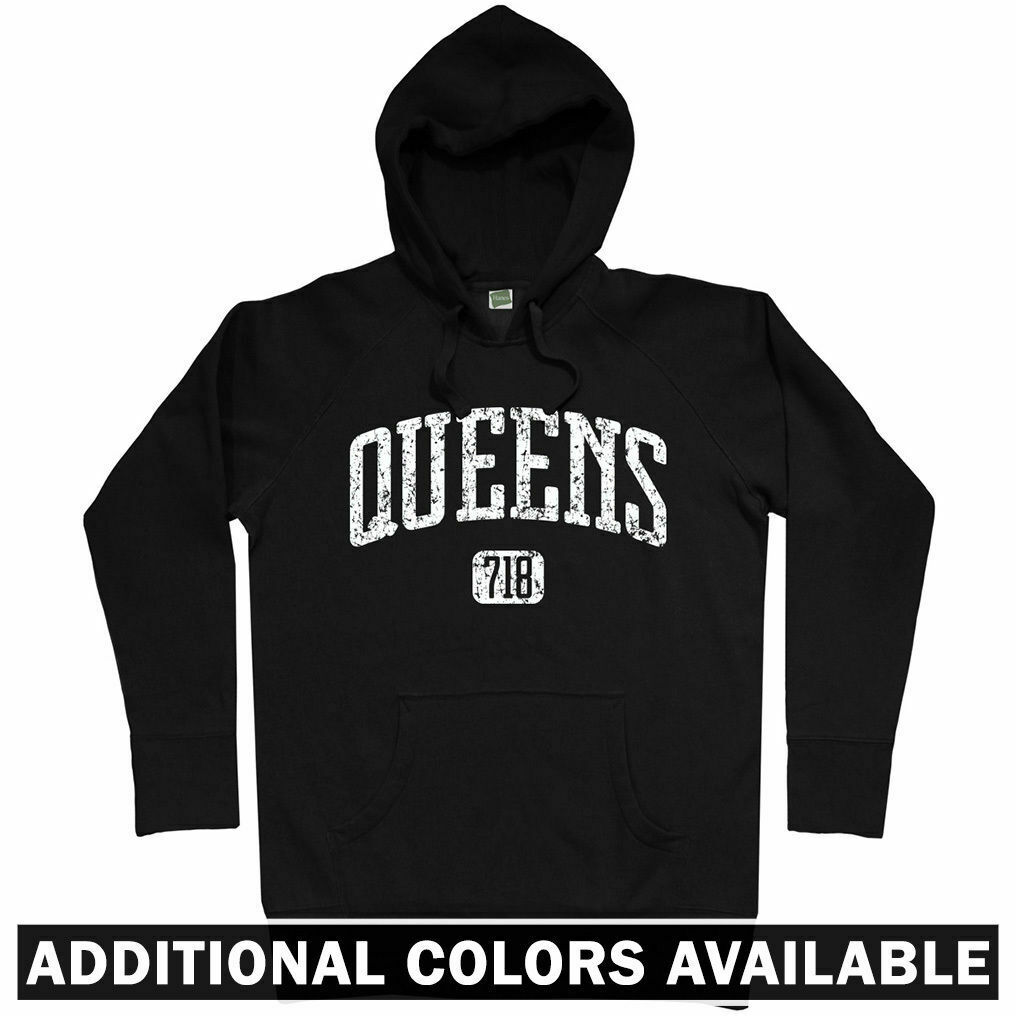 Queens 718 NYC Hoodie - New York City Mets Bridge JFK Mobb Deep Rap - Men S-3XL