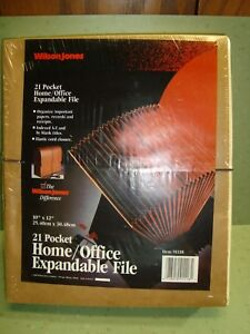 Details about New in Package Wilson Jones 91118 Home / Office Expandable  File 10