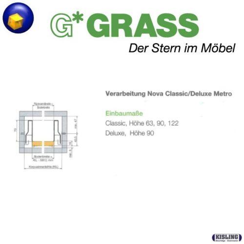 Grass Nova Classic décor METRO Blanc ou Metallic 250-600 mm