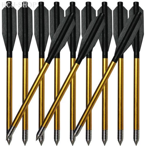Crossbow 12 ALU Armbrustpfeile für Pistolenarmbrust Länge 16 cm  Ø 6 mm