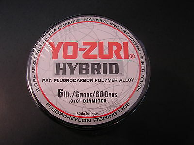 YO-ZURI HYBRID Fluorocarbon Fishing Line 20lb//600yd PINK NEW FREE USA SHIPPING