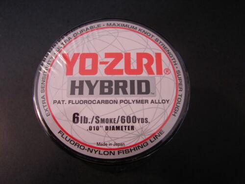 Yo-Zuri Hybrid Fluorocarbon 6 lb 600yd Smoke Fishing Line 6lb 600 yd yozuri