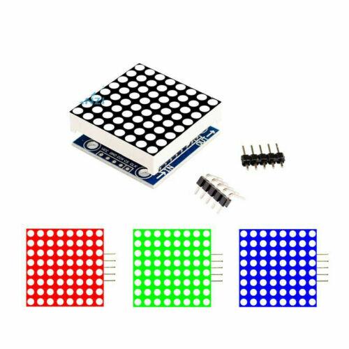 MAX7219 Dot DEL Matrix Microcontrôleur Unité Contrôle DEL module d/'affichage pour Arduino Raspberry Pi