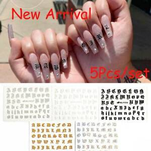 English-Letter-Nail-Art-Sticker-Manicure-Decor-3D-Transfer-Decal-Adhesive-Tips