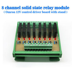 US-Eight-Channels-Solid-State-Relay-Module-Control-Panel-Socket-DC-12V-NPN