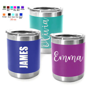 Personalized Coffee Tumbler Mug Engraved Tea Wine Cup Gift 10 oz