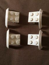 4 x Lego Part 50745 White 2 x 2 Spare Mudguard Wheel Arch  Piece Bundle