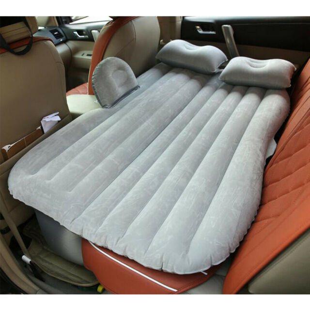 Car Air Mattress Travel Bed Flocking Inflatable Cushion Seat Car Bed For Camping