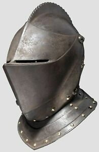 Antique Collectibles Medieval Knight Armour Closed Warrior Helmet Reproduction Ebay