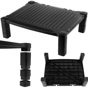 PC Screen Monitor Riser Stand Computer Desk Black Height Adjustable Single Up