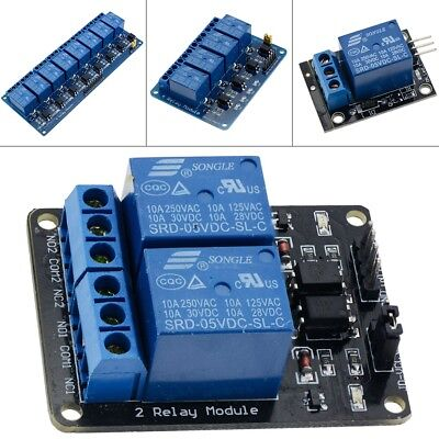 5V 1//2//4//6//8 Channel Relay Board Module Optocoupler LED for Arduino PiC ARM AVRC