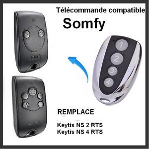 Telecommande-compatible-pour-Portail-SOMFY-KEYTIS-NS-2-RTS-et-NS-4-RTS