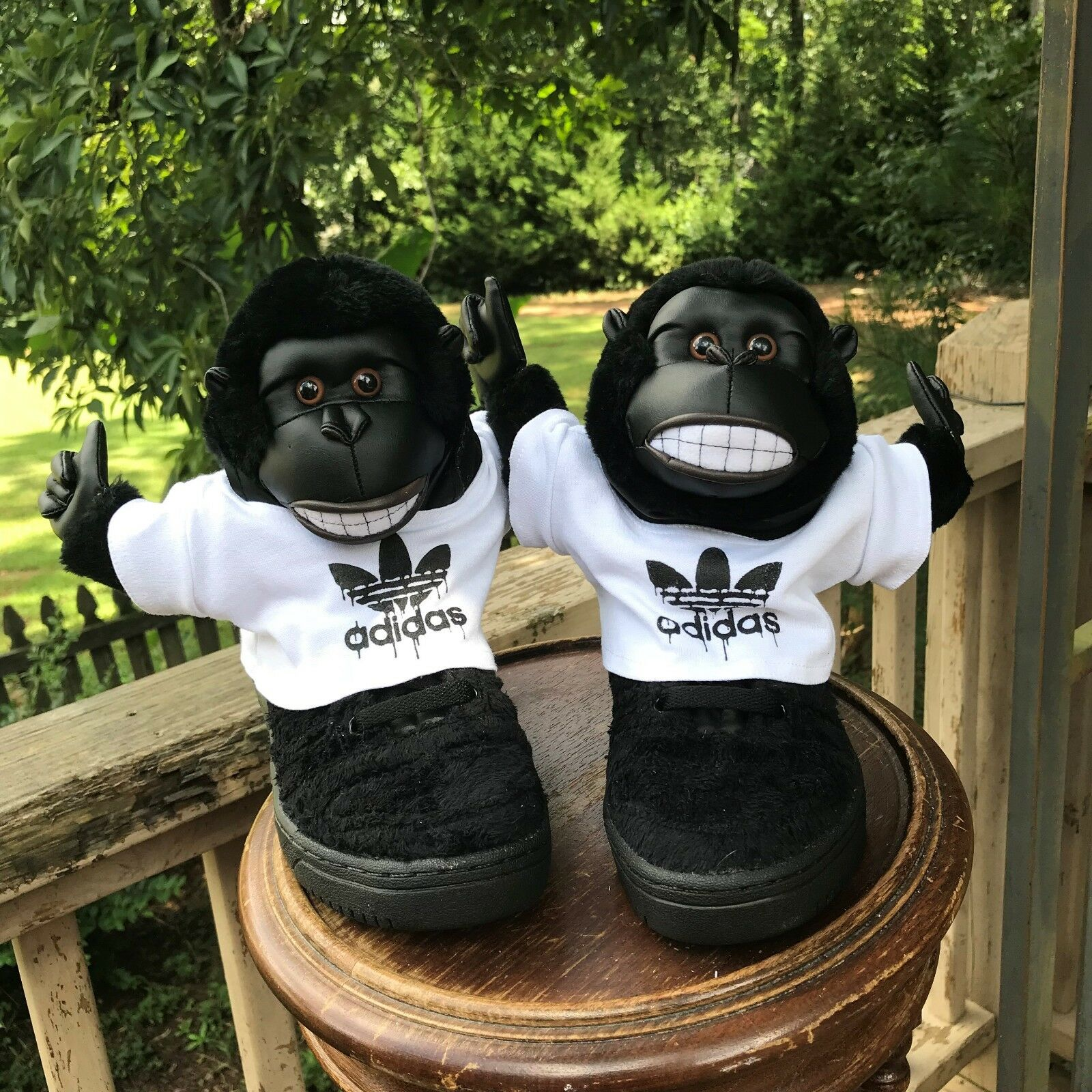 NEW Größe 4.5 Adidas Originals Jeremy Scott GORILLA MONKEY V24424 AUTHENTIC 100%