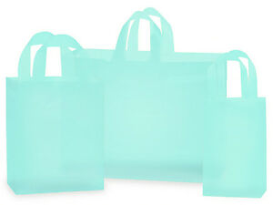 034-AQUA-034-frosted-shopping-bags-100-ASSORTMENT