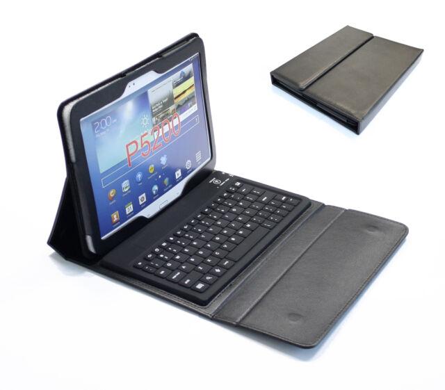 Tasche Case mit Bluetooth Tastatur für Samsung Galaxy Tab 3 | 10,1 Zoll Schwarz