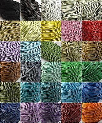 (0,15€/m) 10m Wachsband Perlenschnur Baumwolle gewachst 1mm Farbauswahl