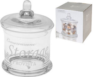Lovely Glass Storage Jar With Glass Lid Cookies Sweet Jar Bathroom