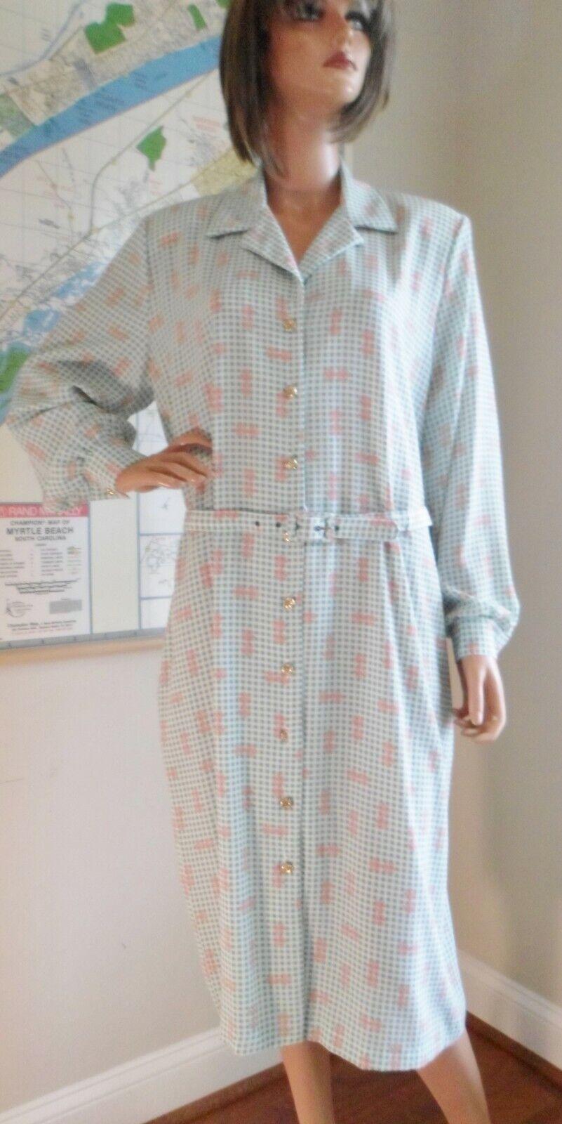 Vtg 70s Breli Originals  Belted Shirt Dress~Mint … - image 1