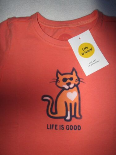 LIFE IS GOOD NWT Cat Kitten Love SS TShirt Tee Top Girls NEW Size Sz 2 2T