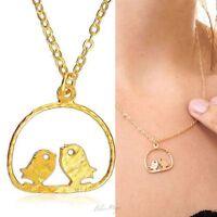 Gold Filled 14k Necklace Love Doves Pendant Designer Charm & Chain Lady Warranty