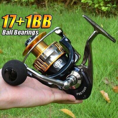 Saltwater Spinning Reel Fishing Reels 17+1BB 2000-7000 Metal Reel Fishing Tackle