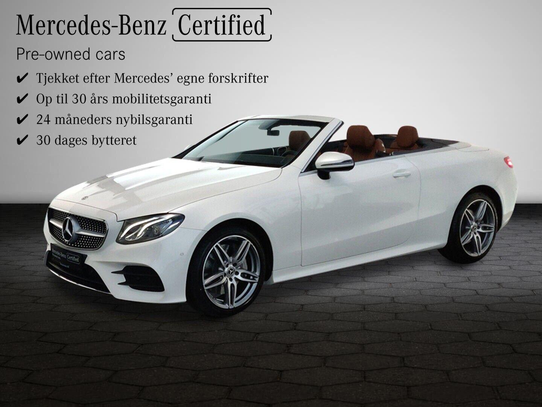 Mercedes E350 2,0 AMG Line Cabriolet aut. 2d - 884.100 kr.