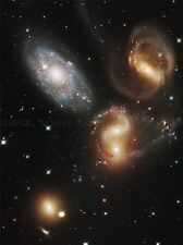 HUBBLE SPACE TELESCOPE WRECKAGE IN STEPHAN/'S QUINTET POSTER PRINT 346PYA