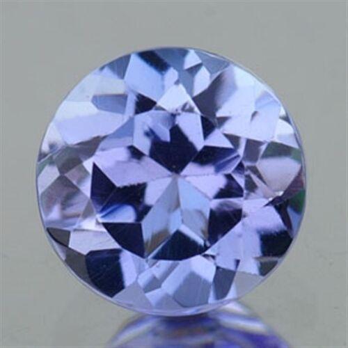 0.10 CT ~ Violet Blue Tanzanite ~ ROUND Nat Gem