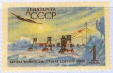 RUSSIA SOWJETUNION 1956 1833 C97 Opening Scientific drifting Station Plane MNH