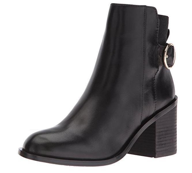 Aldo Women's Rosaldee Ankle Bootie, Black Leather, 7.5 B US