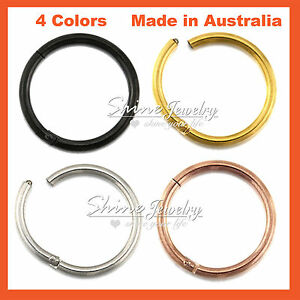 Titanium-Ear-Lip-Nose-Septum-Seamless-Segment-Clicker-Ring-Hoop-Earring-Piercing