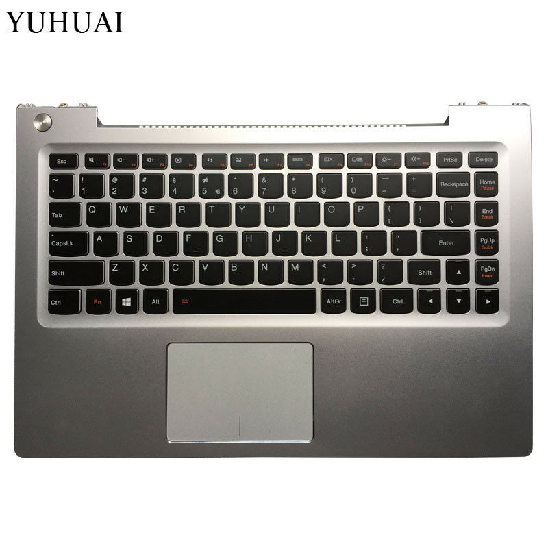 For Lenovo Ideapad U430 U430T Silver Palmrest Upper Case US Keyboard Backlight
