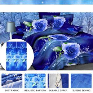 3D-Azul-Rosa-Impreso-Funda-de-Almohada-Cubierta-Del-Edredon-Edredon-Juego-de-Cama-gemelos-Queen-King