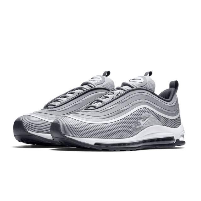Nike Mens Air Max 97 Ultra 17 Wolf Dark Grey Silver Bullet Sneakers 918356-007