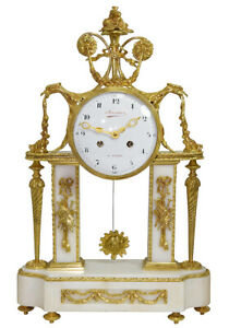PENDULE-AIGLE-Kaminuhr-Empire-clock-bronze-horloge-antique-cartel-uhren