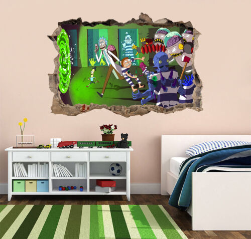 """Rick And Morty 10/"""" Wide Vinyl Decal Wall Sticker"""