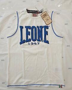 sports shoes dbbf5 fd762 Details zu Leone T-Shirt Tanktop Herren Ärmellos LSM1665 Man Tshirt Tunika  Off White Weiss