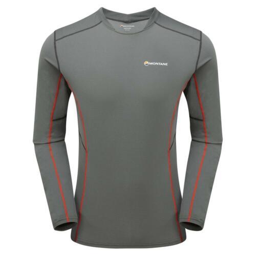 Montane Razor Long Sleeve Mens Trail Running Shirt Shadow Grey