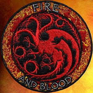 HEAR ME ROAR PATCH ~GAME OF THRONES~ HOUSE LANNISTER ~ BLOOD FIRE /& ICE