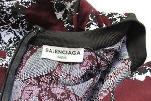 New-Balenciaga-Burgundy-print-stretch-body-dress-F-38-uk-10
